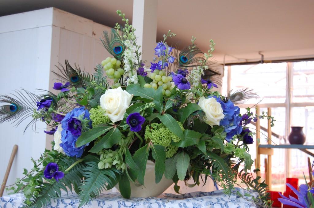 Blomsterdekoration i Art Déco-stil