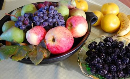 egna frukter från trädgården