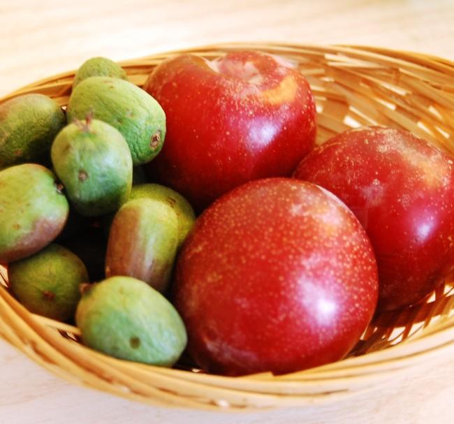 Plumots och minikiwi