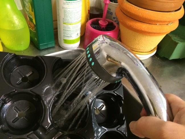 rengöra krukor före sådd
