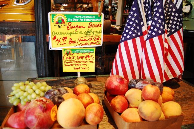 Frukt från Fresno i Kalifornien