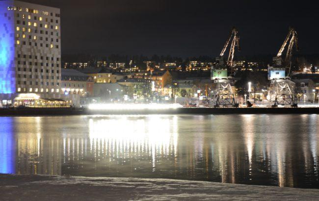 Hamnkranarna i Örnsköldsvik