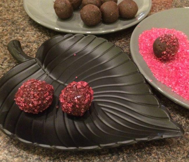 Arraksbollar med svarta bönor