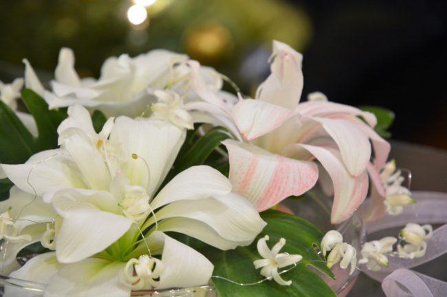 Dekoration med amaryllis och hyacinter (1)