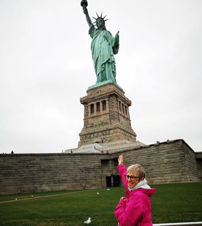 Tänk att få träffa frihetsgudinnan Statue of Liberty